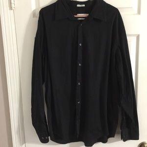 Calvin Klein solid  black dress shirt